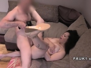Natural busty ebony amateur fucked in uk casting