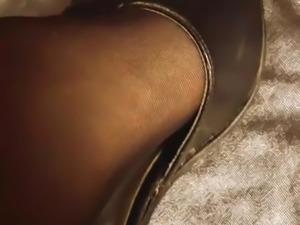 Pantyhose Feet High heels play