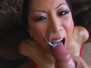Asian Slut TL Sloppy Deepthroat Blowjob