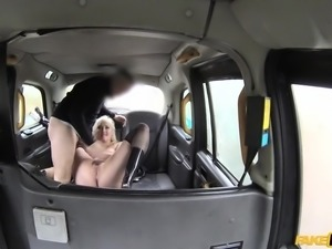 Misha was getting fucked so hard in the fake taxi, that they had to stop, so...