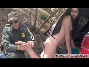 Police strapon and fucking my officer Pale Cutie Banging on the Border