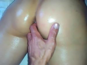 gran orgasmo de mi mujer cuando la toco con mis dedos