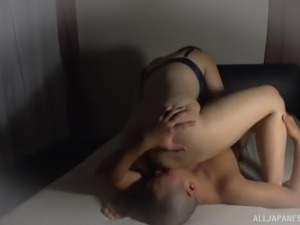 Dominant Japanese lady loves being on top of her fellow