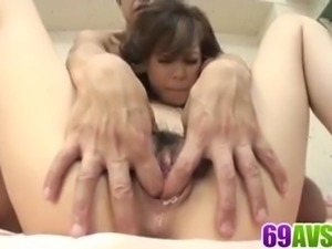 Natsumi Mitsu delights with a large penis in crazy scenes