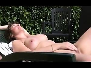 masturbating in the garden