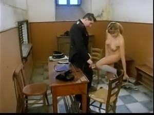 Italian Nazi officer fucks girl