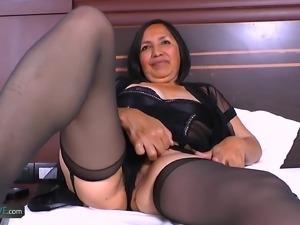 Hot interracial sex with horny latina chick