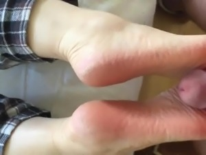 Foot tease footjob