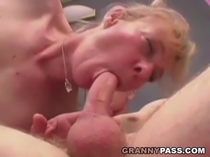 Hairy Granny Fucks For Young Cum