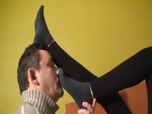 Black socks worship