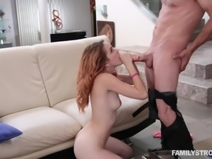 She has a new stepdad who has been leering at her. She was actually flattered...