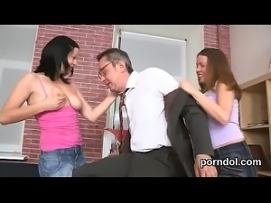 Innocent college girl is seduced and screwed by her older schoolteacher
