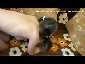 hot little teen gets a strapon up her ass
