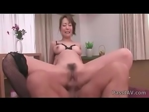 Akari Asagiris big tits squeezed by horny doctors.