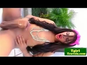 tgirl Tayla Leal  outdoors s