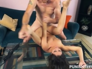 Horny secretary gets a hardcore drilling from her hung boss