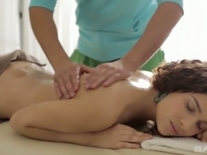 Caroline needs a good stress relieving massage and she likes to have sex a lot