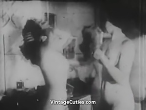 Two Naked Chicks Pleasing Each Other (1930s Vintage)