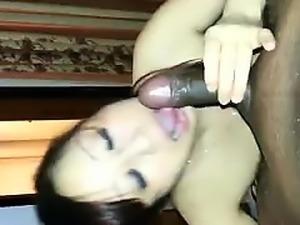 Super asian deepthroat a big cock