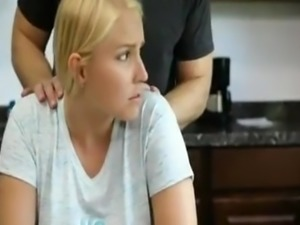 German Blonde Got rough fuck in the kitchen