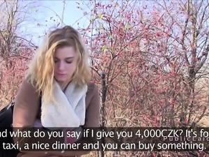 Amateur Czech teen fucks for money