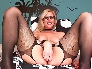Pantyhose webcam blonde