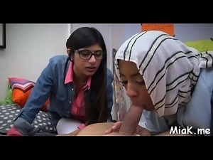 Legal age teenager arab rouge prepares for sex