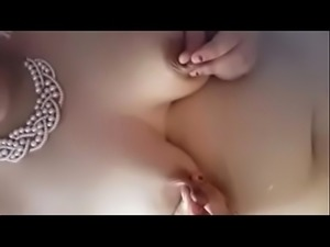 Desi Girlfriend Milking her beautiful breasts squeezing out milk fountain