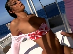 Amazing sex session on a boat with brilliant Lucy Belle