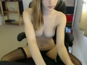 Slim webcam girl Missa is touching her tits web camera