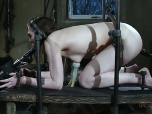Submissive slave Sierra Cirque is most beautiful with a dildo in her mouth