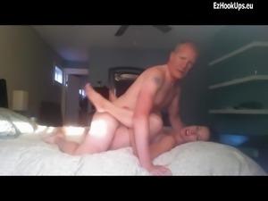 Horny sexy brunette fucks her boss