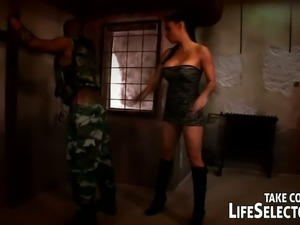 Aletta Ocean gets fucked by black soldier in his wildest hallucinations