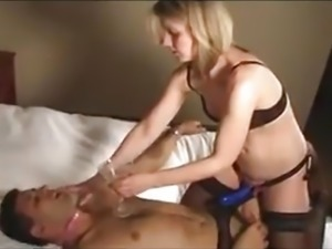 blonde gf pegging her bf.mp4