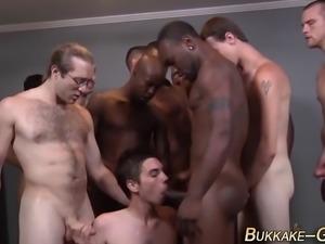 twink gets bukkake facial anal