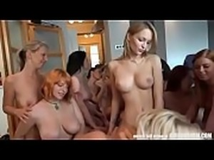 Reverse gangbang with 20 Czech girls