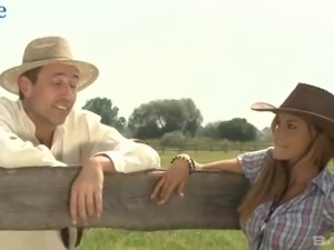 Wondrous village cowgirl thirsts to be analfucked outdoors at once