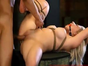 Job interview bondage Big-breasted blondie hottie Cristi Ann is on vac