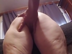 NOISY Cougar Pussy finger fucked from behind.That ass thou
