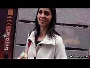 Cutie amateur european slut seduces tourist dor a street blowjob 25