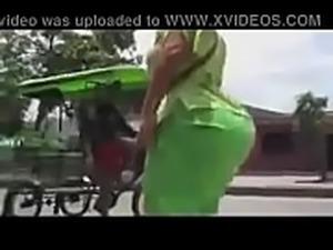 big booty woman walking on street