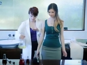 These lady scientists always find time for some hot pussy licking sessions
