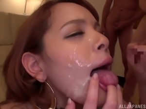 Kimino Natsu is a chubby babe fucked by a bunch of horny men