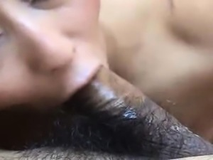 Asian amateur cutie gives pov blowjob