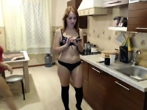 Two Amateur Lesbian Teens StrapOn Play