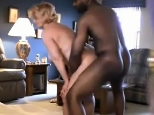 Blonde milf fucked doggystyle at home
