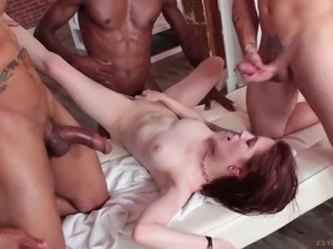 Unforgettable gangbang experience with dick-hungry Anna De Ville
