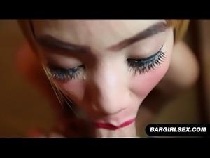 Thai Girl With Tattoo Sucking White Cock