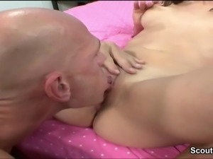 Big Dick Men Seduce Petite Latina for First Fuck on Movie