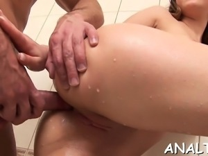 Steamy a-hole ass fucking and raucous anal pounding